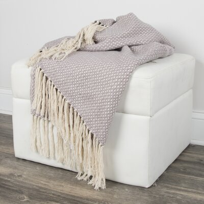 Hemphill Cotton Throw Color: Gray
