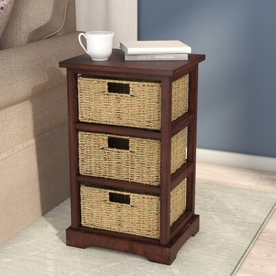 Eagan End Table With Storage Color: Acacia Cherry