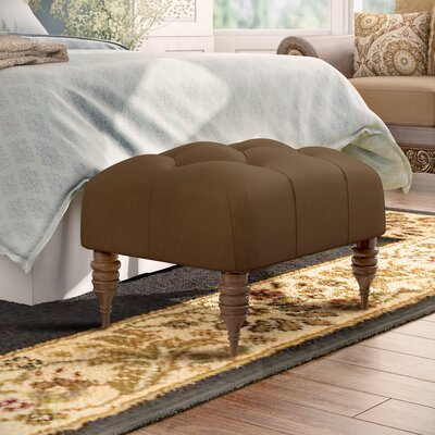 Austinburg Tufted Ottoman Upholstery: Premier Chocolate