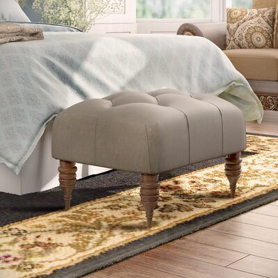 Monroeville Tufted Ottoman Upholstery: Mystere Dove