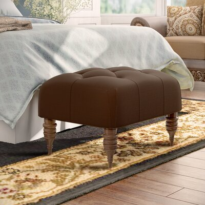 Bloomfield Tufted Ottoman Upholstery: Regal Chocolate