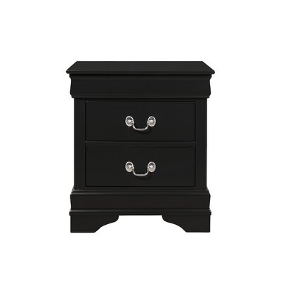 Lampkins 2 Drawer Nightstand Color: Black