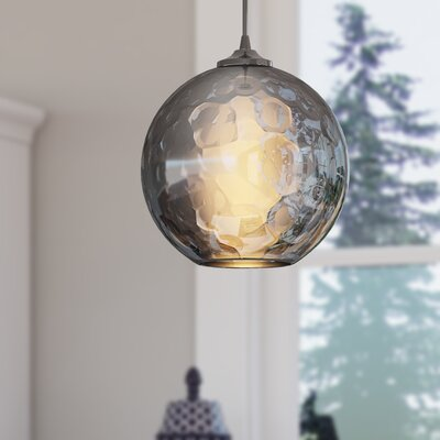 Rotterdam 1-Light Globe Mini Pendant Shade Color: Smoke