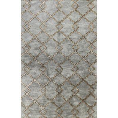 Higby Hand-Tufted Slate Area Rug Rug Size: 56 x 86