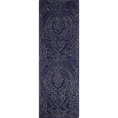 Goodridge Hand-Tufted Navy Area Rug Rug Size: Runner 26 x 8