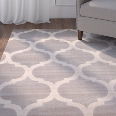 Estelle Gray/Ivory Area Rug Rug Size: 79 x 106