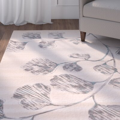Alcott Hill Estelle Gray/Beige Area Rug