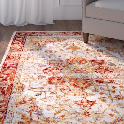 Beyers Red Area Rug Rug Size: 4 x 6