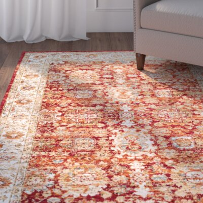 Biali Red Area Rug Rug Size: 76 x 96