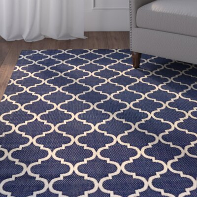 Attles Blue Indoor/Outdoor Area Rug Rug Size: 53 x 75