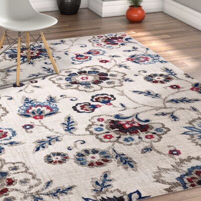 Monterrey Beige/Blue/Red Area Rug