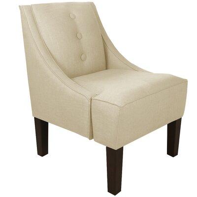 Moorcroft Linen Swoop Armchair Upholstery: Klein Ivory