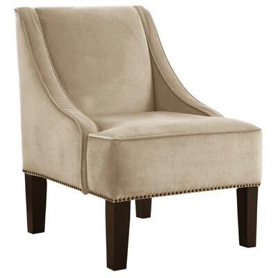 Goldhorn Armchair Upholstery: Velvet Buckwheat, Nailhead Detail: Brass Nailhead