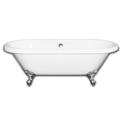 Vernon Clawfoot 70 x 31 Soaking Bathtub Claw Foot Finish: Polished Chrome, Faucet Holes: No