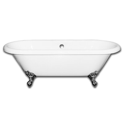 Vernon Clawfoot 70 x 31 Soaking Bathtub Faucet Holes: Yes, Claw Foot Finish: Brushed Nickel