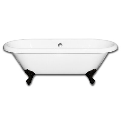 Vernon Clawfoot 70 x 31 Soaking Bathtub Faucet Holes: No, Claw Foot Finish: Oil Rubbed Bronze