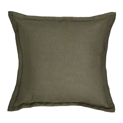 Brownstown Linen Throw Pillow Color: Brown