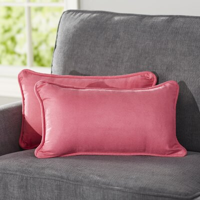 Hargreaves Lumbar Pillow Color: Berry Berry