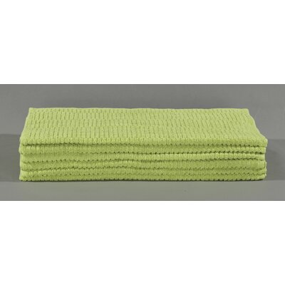 Striped Cotton Bath Towel Color: Green