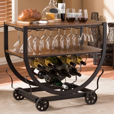 Jianglin 10 Bottle Floor Wine Rack