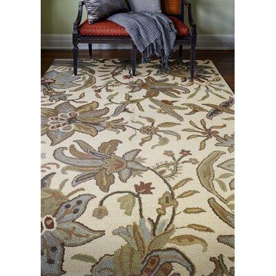 Noland Handmade Wool Ivory Area Rug Rug Size: 86 x 116
