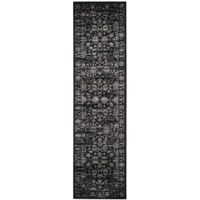 Bainsby Black/Light Grey Area Rug Rug Size: Runner 22 x 8
