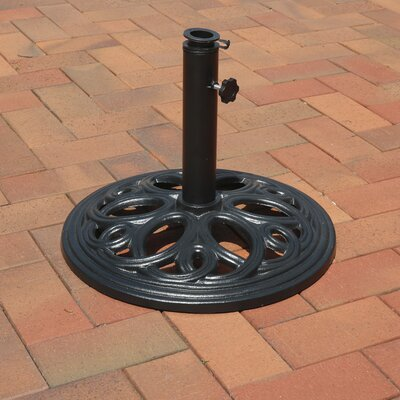 Isetta Heavy-Duty Outdoor Patio Cast Iron Free Standing Base Umbrella Stand