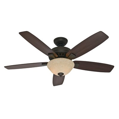 52 Banyan 5-Blade Ceiling Fan Finish: Bronze and Roasted Walnut/Yellow Walnut Blade