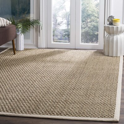 Catherine Hand-Woven Natural Area Rug Rug Size: 6 x 9