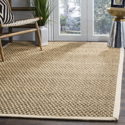 Catherine Hand-Woven Natural Area Rug Rug Size: 5 x 8