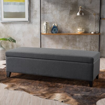 Overbey Fabric Storage Ottoman Upholstery: Dark Gray