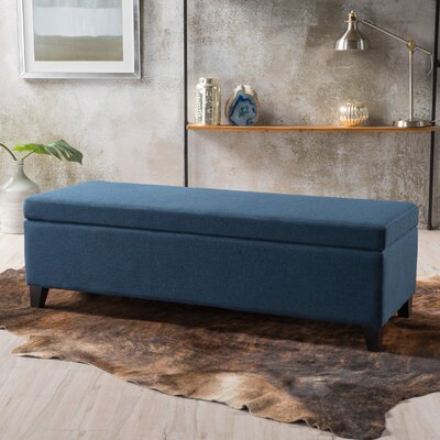 Overbey Fabric Storage Ottoman Upholstery: Navy Blue