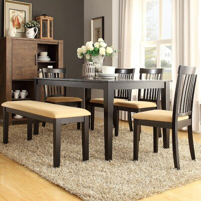 Oneill 6 Piece Upholstered Dining Set