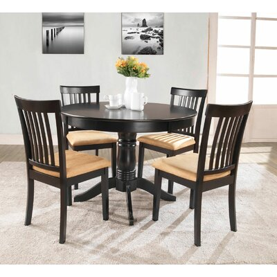 Oneill 5 Piece Upholstered Dining Set
