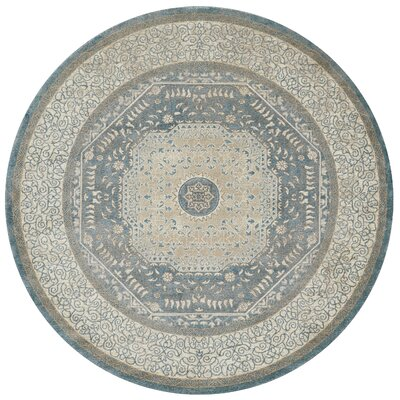 Adelbert Blue/Sand Area Rug Rug Size: Round 7'7