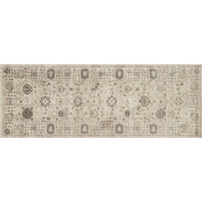 Adelbert Taupe Area Rug Rug Size: Rectangle 28 x 76