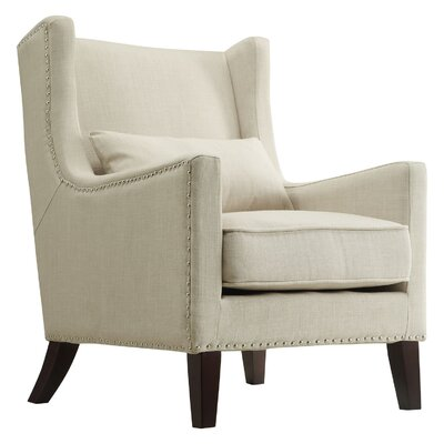 Oneill Wingback Arm Chair Color: Beige