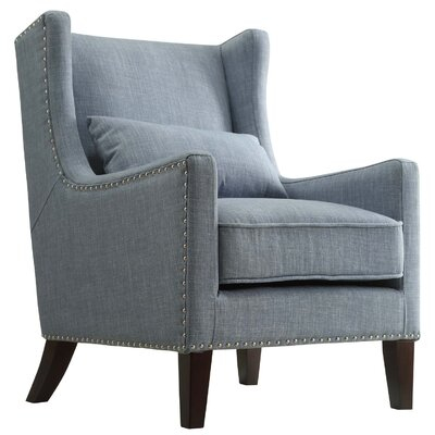 Oneill Wingback Arm Chair Color: Blue