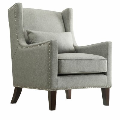 Oneill Wingback Arm Chair Color: Gray