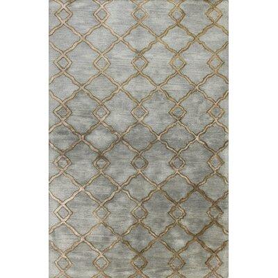 Higby Hand-Tufted Slate Area Rug Rug Size: 86 x 116