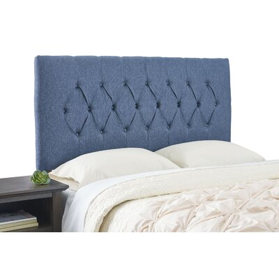 Dublin Contemporary Adjustable Foam Upholstered Panel Size: Queen, Upholstery: Navy