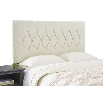 Dublin Contemporary Adjustable Foam Upholstered Panel Size: Queen, Upholstery: Ivory