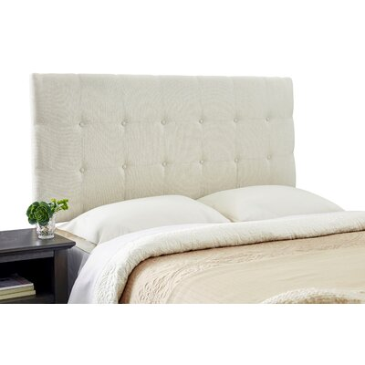 Dublin Adjustable Solid Wood Foam Upholstered Panel Size: Queen, Upholstery: Ivory