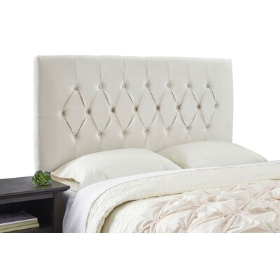 Dublin Adjustable Wood Frame Upholstered Panel Size: Queen, Upholstery: Ivory