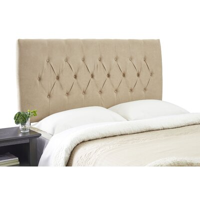 Dublin Adjustable Wood Frame Upholstered Panel Size: King, Upholstery: Khaki