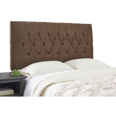 Dublin Adjustable Wood Frame Upholstered Panel Size: Full, Upholstery: Dark Brown