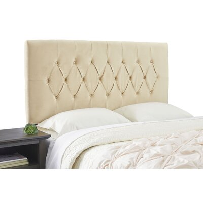 Dublin Adjustable Wood Frame Upholstered Panel Size: King, Upholstery: Beige
