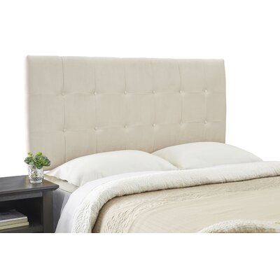 Dublin Contemporary Adjustable Wood Frame Upholstered Panel Headboard Size: Queen, Upholstery: Beige
