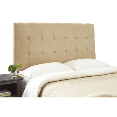 Dublin Contemporary Adjustable Wood Frame Upholstered Panel Headboard Size: Queen, Upholstery: Khaki