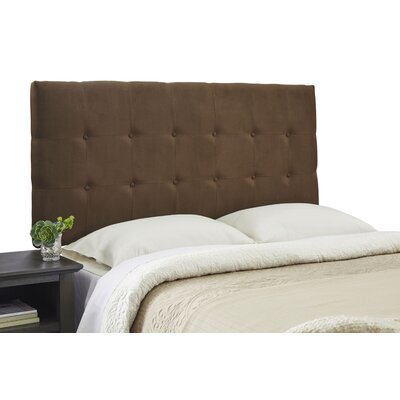 Dublin Contemporary Adjustable Wood Frame Upholstered Panel Headboard Size: Queen, Upholstery: Dark Brown